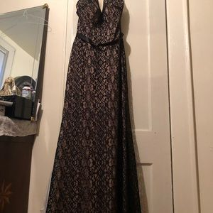 Prom dress, Black and Beige,m